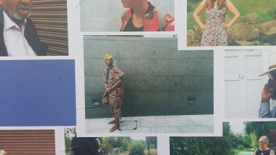"Adeyinka Akinwande models for  the bush theatre photo exhibition of a new drama ""This Place We Know"""