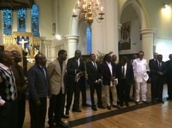 Igbobi college old boys at the burial of Chief Michael Ibru in london,